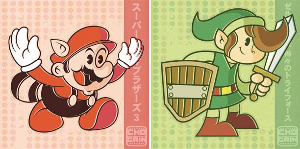 """Chogrin """"Mario"""" & """"Link"""""""