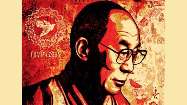 """Shepard Fairey """"Compassion (His Holiness The Dalai Lama)"""""""