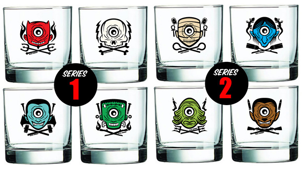 "Dan Springer ""Roving Eye"" Shot Glasses"