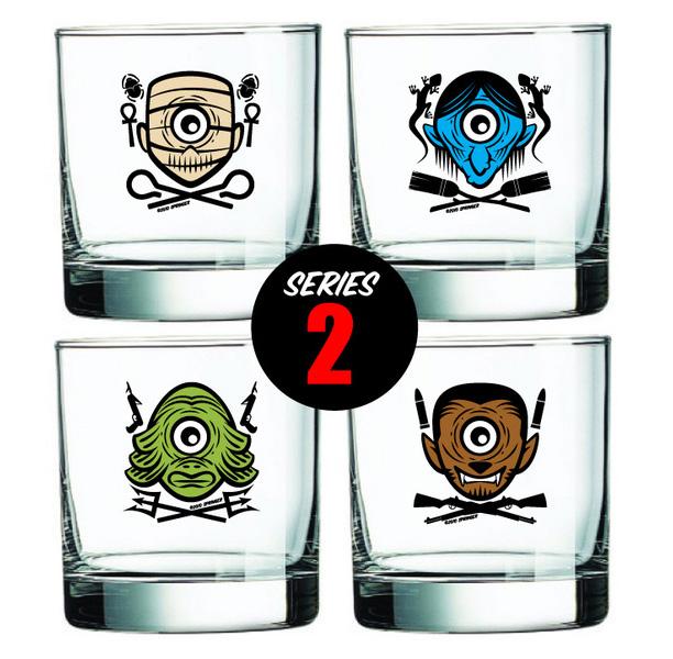 """Dan Springer """"Roving Eye"""" Shot Glasses"""