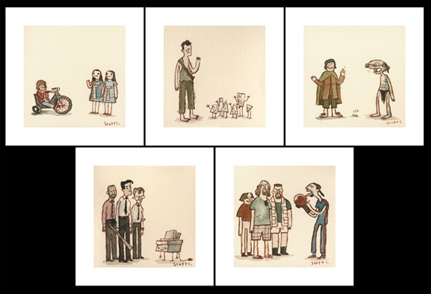 "Scott Campbell's new ""Great Showdowns"" Print Set"