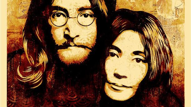 """Shepard Fairey """"John & Yoko Canvas"""""""