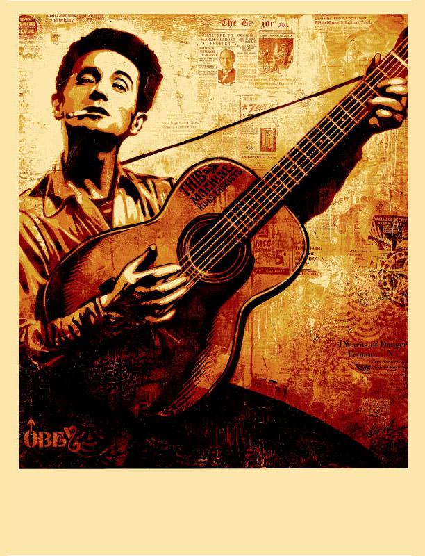 "Shepard Fairey ""Woody Guthrie"""