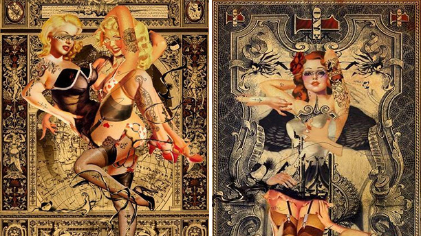 "Handiedan ""Two Blondes No. 1"" & ""Beautiful Decay No. 1"""