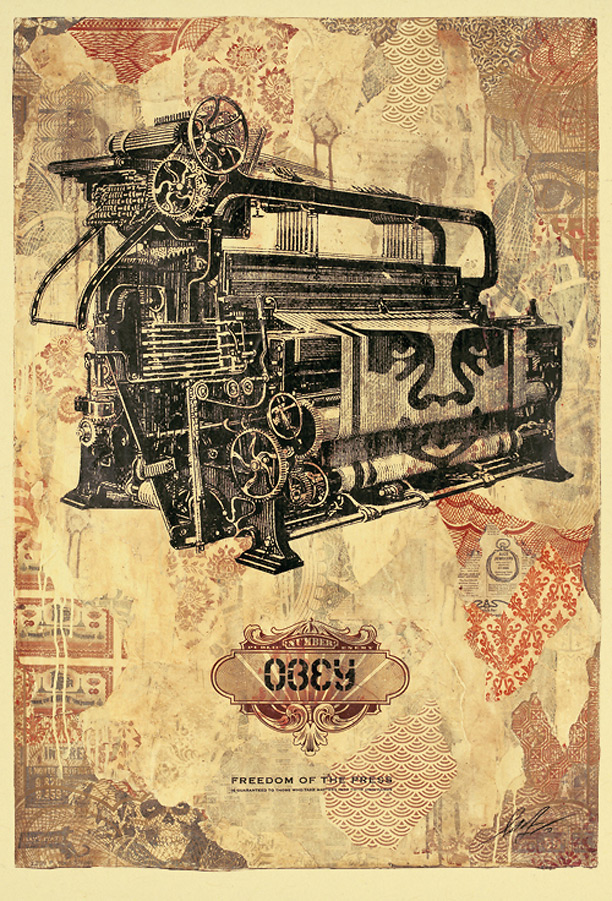 "Shepard Fairey ""Freedom of the Press"""
