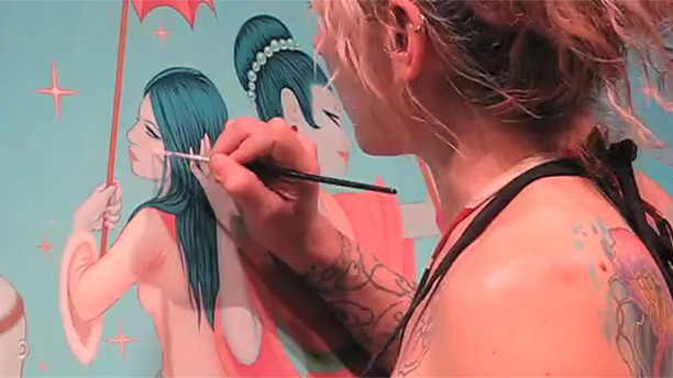 Tara McPherson Painting Timelapse Video