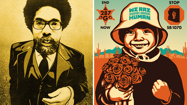 """Cornel West"" & ""Alto Arizona"" by Shepard Fairey"