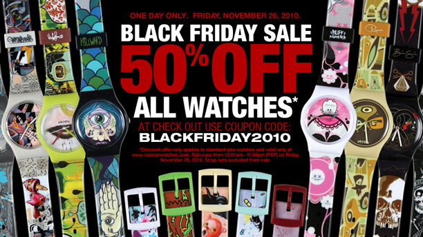 Vannen Art Watches 50% off