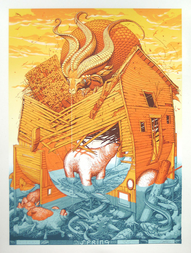 Jay Ryan & Aaron Horkey Collaborative Art Print