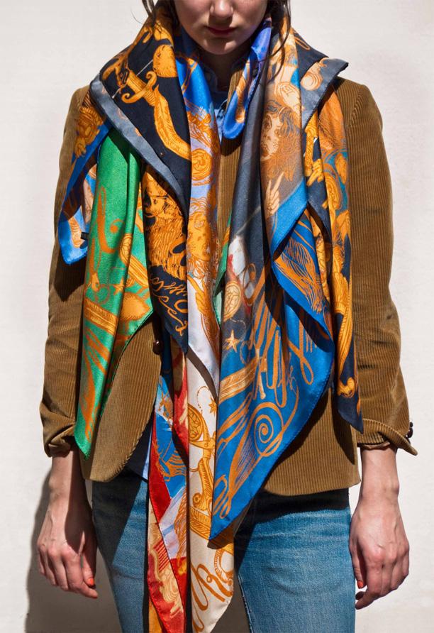 Kanye West, George Condo, m/m (paris) Collector's Silk Scarves