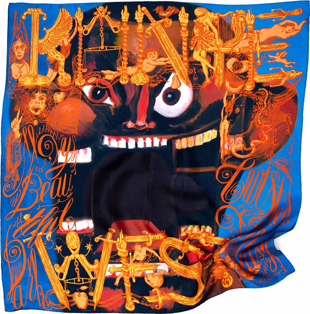 Kanye West, George Condo, m/m (paris) Collector's Silk Scarves